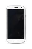 Smartphone lokalisierte auf weißem Hintergrund Stockfotografie