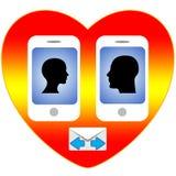Smartphone Love Royalty Free Stock Photos
