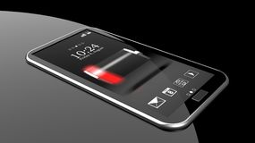 Smartphone with low battery Stock Images