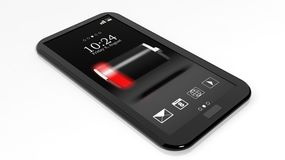 Smartphone with low battery Royalty Free Stock Photography