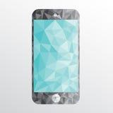 Smartphone low polygon vector Stock Photo