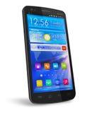 Smartphone lustroso preto do écran sensível ilustração stock