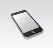 Smartphone lying on grey surface Stock Photos