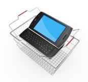 Smartphone móvil negro - 3d rinden Fotografía de archivo libre de regalías