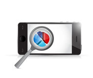 Smartphone magnify business concept Stock Image