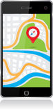 Smartphone map Stock Images