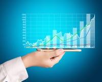 Smartphone market share graph Stock Photos