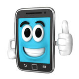 Smartphone Mascot. Smartphone character giving a thumbsup Stock Photography