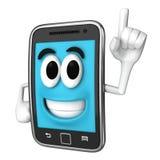 Smartphone-Mascotte Stock Afbeeldingen