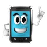 Smartphone-Mascotte Royalty-vrije Stock Afbeeldingen
