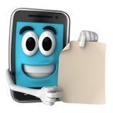 Smartphone-Mascotte Royalty-vrije Stock Foto