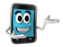 Smartphone maskotka Zdjęcia Stock