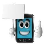 Smartphone maskotka Fotografia Royalty Free