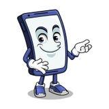 Smartphone maskotki Przedstawiać fotografia royalty free