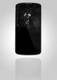 Smartphone med den brutna skärmen Royaltyfri Foto
