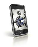 Smartphone med den säkra dörren Arkivbilder