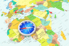 Smartphone med GPS navigering Arkivbilder