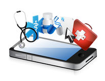 Smartphone medical concept Royalty Free Stock Images