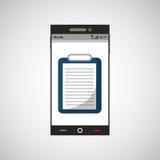 Smartphone medicine list report application icon. Vector illustration eps 10 Stock Image