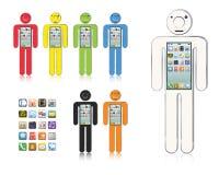 Smartphone-mens Stock Foto