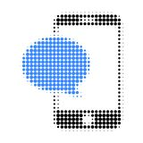 Smartphone Message Halftone Dotted Icon royalty free illustration
