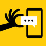 Smartphone Message Royalty Free Stock Photos