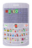Smartphone with message Hello Royalty Free Stock Photos