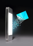 Smartphone with message icon. Stock Image