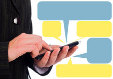 Smartphone Messaging Royalty Free Stock Images