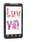 Smartphone met bericht Royalty-vrije Stock Fotografie