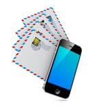 Smartphone met Groep Post. Stock Foto
