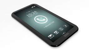 Smartphone with missed call Royalty Free Stock Photos