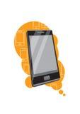 Smartphone mit Aussicht auf stilvollem Hintergrund Lizenzfreie Stockfotografie