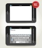 Smartphone mit bester Wahl der Rosette und einem telephon Stockfoto