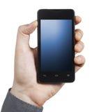 Smartphone mit blauem Schirm lizenzfreie stockfotos