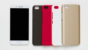 Smartphone mit einer Schutzhaube Lizenzfreies Stockfoto