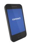 Smartphone mit schwarzer Abdeckung Stockbilder