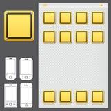 Smartphone mit Verkehrszeichen-Ikonen-APP Lizenzfreie Stockfotos