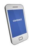 Smartphone mit weißer Abdeckung Lizenzfreie Stockfotos