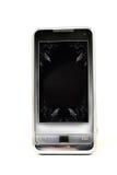 Smartphone mit zerbrochenem Bildschirm Stockbild