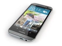 Smartphone, mobiele telefoon op witte achtergrond Stock Foto