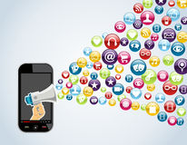 Smartphone mobile applications Stock Photo