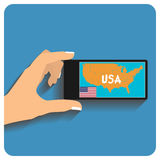 Smartphone with mobile gps Royalty Free Stock Photography