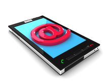 Smartphone mobile message concept. 3D render Royalty Free Stock Images