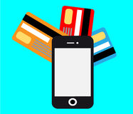 Smartphone mobile payment vector Royalty Free Stock Image