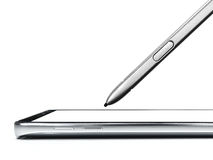 Smartphone and mobile pen. Close up of smartphone and mobile pen isolate Royalty Free Stock Photo