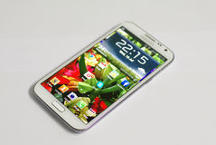 Smartphone mobile phone. Smartphone samsung, main UI page mobile phone Royalty Free Stock Image