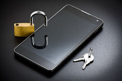 Smartphone-Mobile-Sicherheit stockfotos
