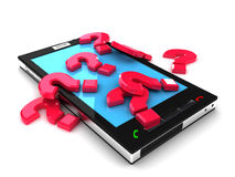 Smartphone mobile support concept. 3D render Royalty Free Stock Photo