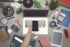 Smartphone mockup Stock Images